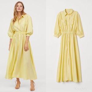 H&M Yellow Shirt Dress